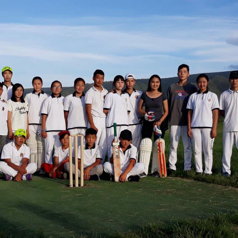 Mongolian Kids Cricket Team