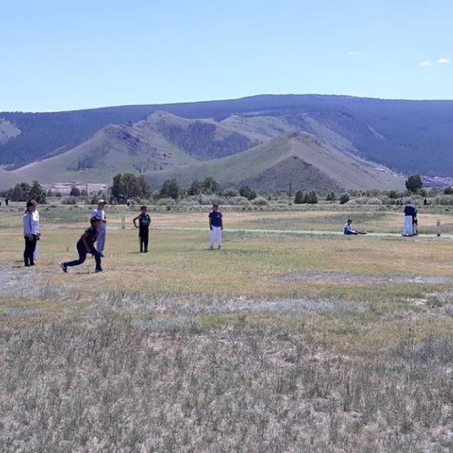 Kids Playing Cricket