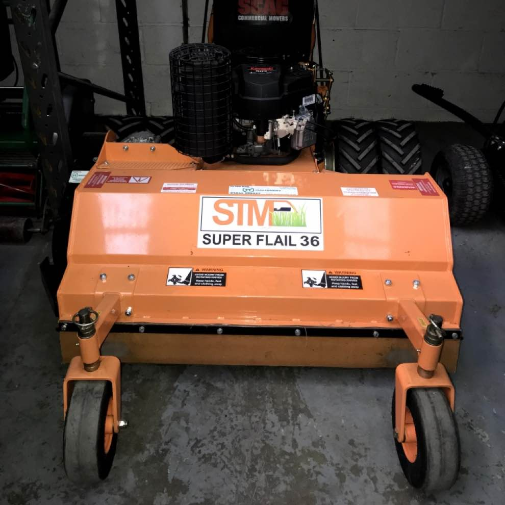 Used Scag SWZ Pedestrian Flail Mower at RT Machinery Ltd