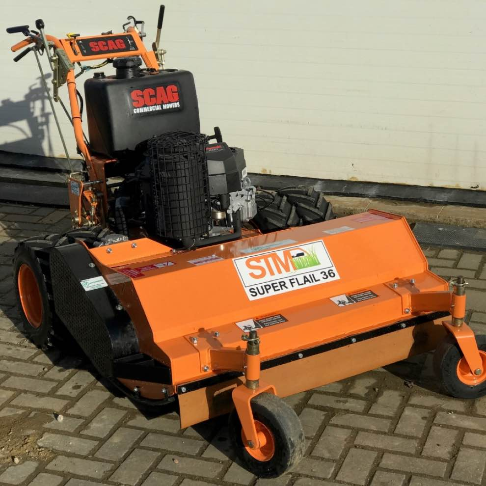 Used Scag SWZ36 Pedestrian Flail Mower at RT Machinery Ltd