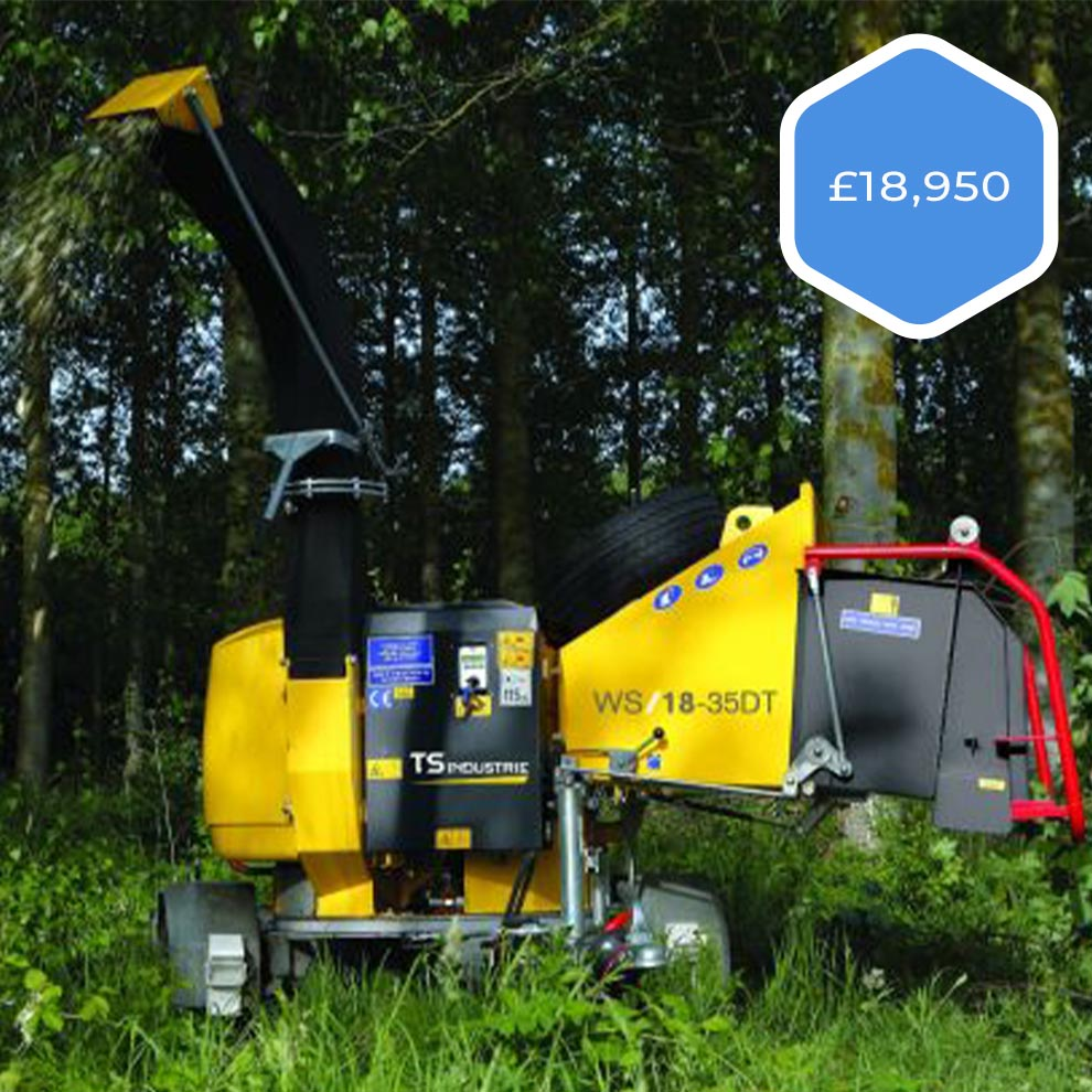 TS Industrie TS18-35D Arborists Pro Chipper