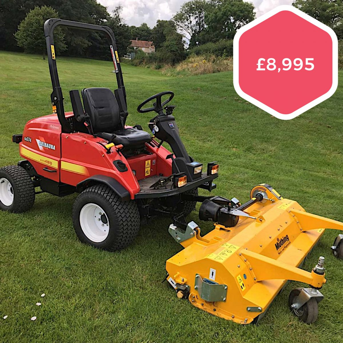 Shibaura CM374 Out-front Flail Mower