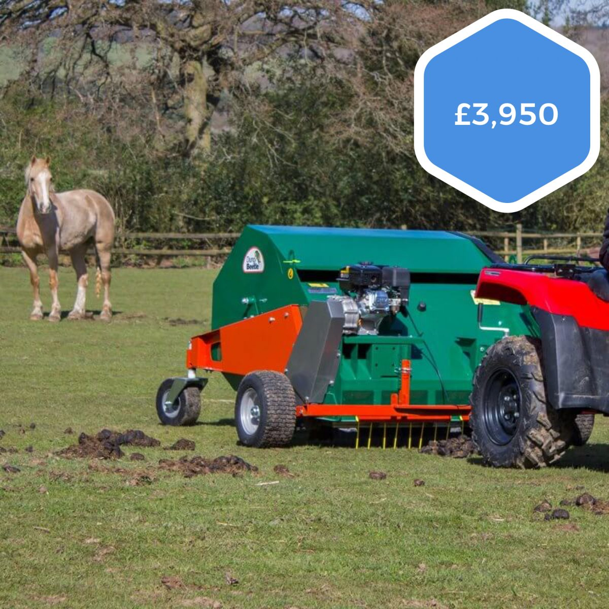 Wessex MTX120E Dung Beetle Paddock Cleaner