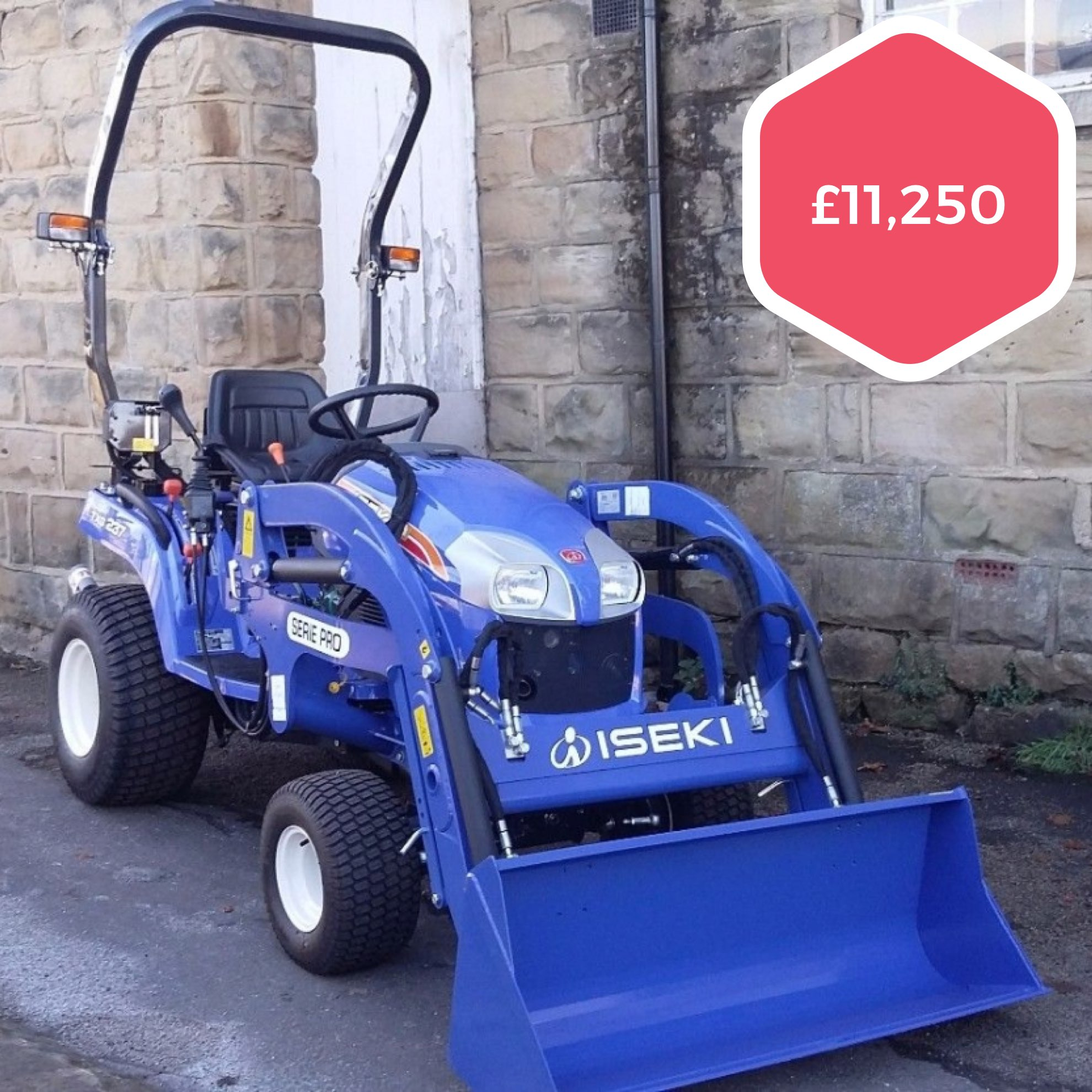 Iseki TXG237 Compact Tractor with V180 Front Loader