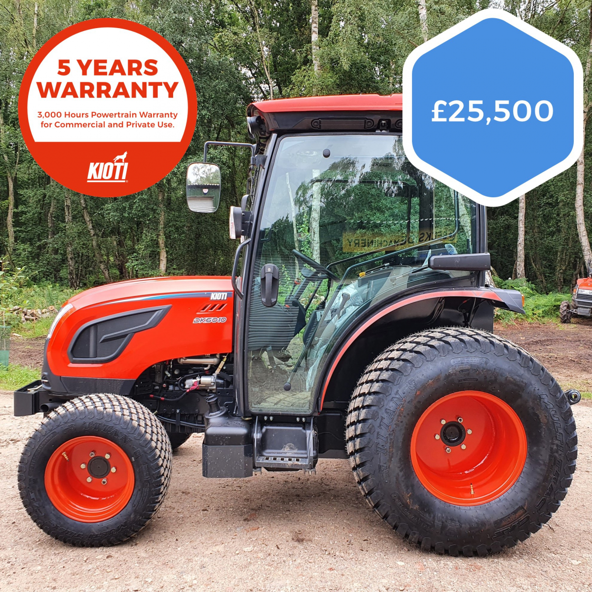 Kioti DK6010CH Turf Tractor (Brand New)