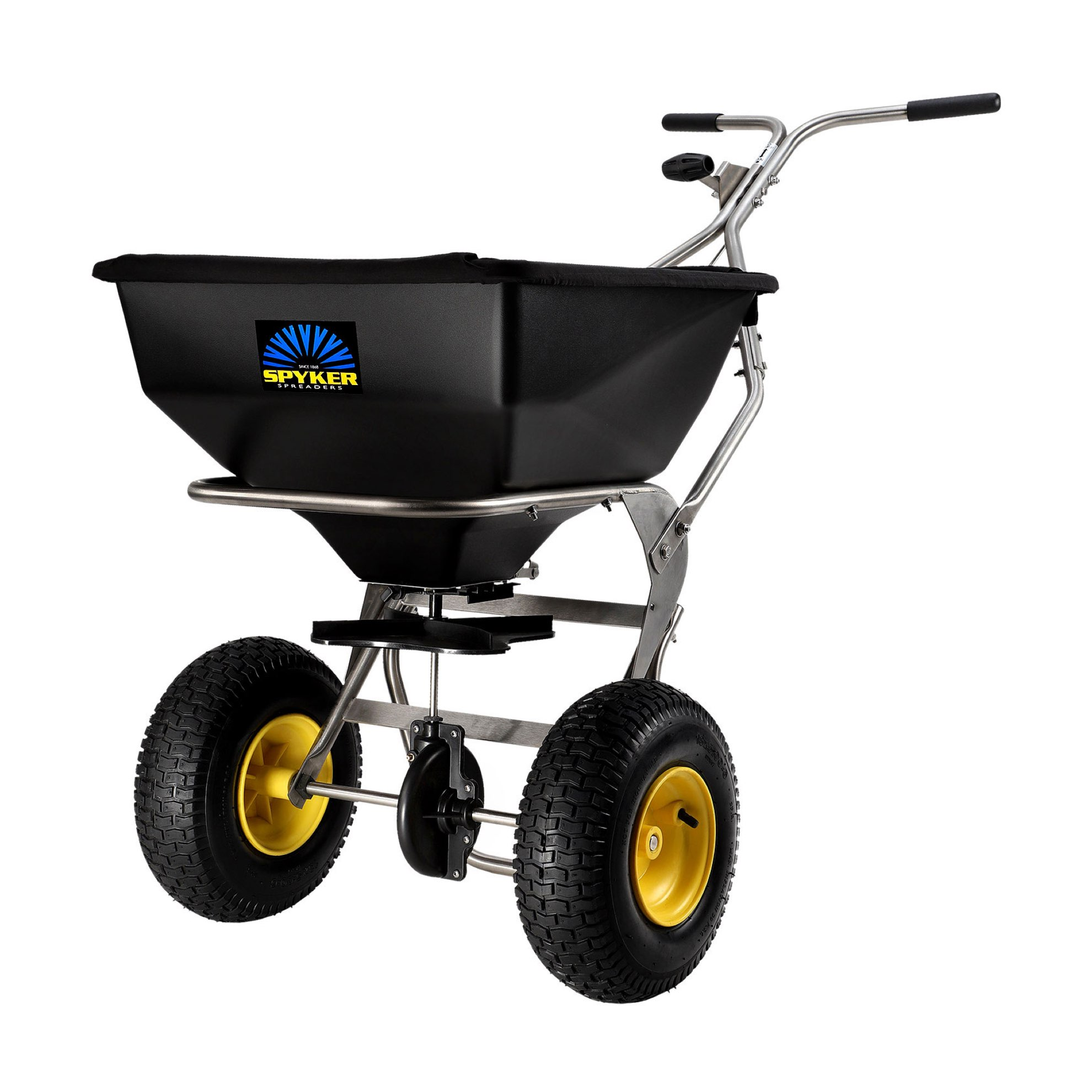 Spyker SPY80-1S 80lb Large Capacity Sport and Lawn Spreader