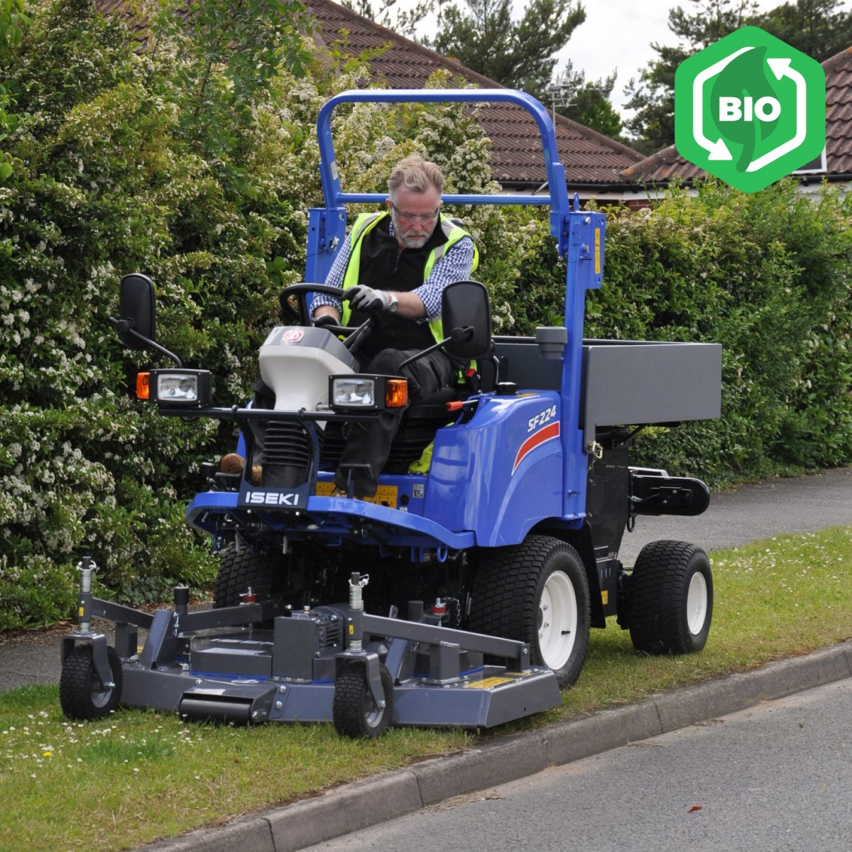 Iseki SF224 Utility Mower with Tipping Storage Box